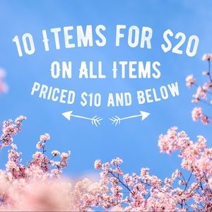 SALE 10 Items for $20